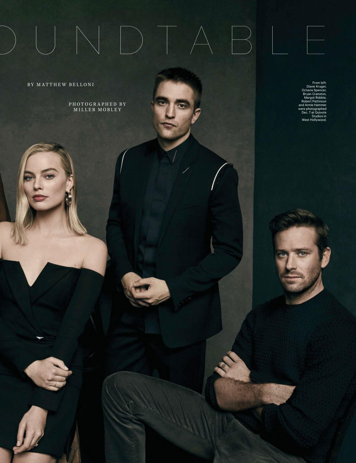 Margot Robbie Poses for The Hollywood Reporter's Live Roundtable, December 2017