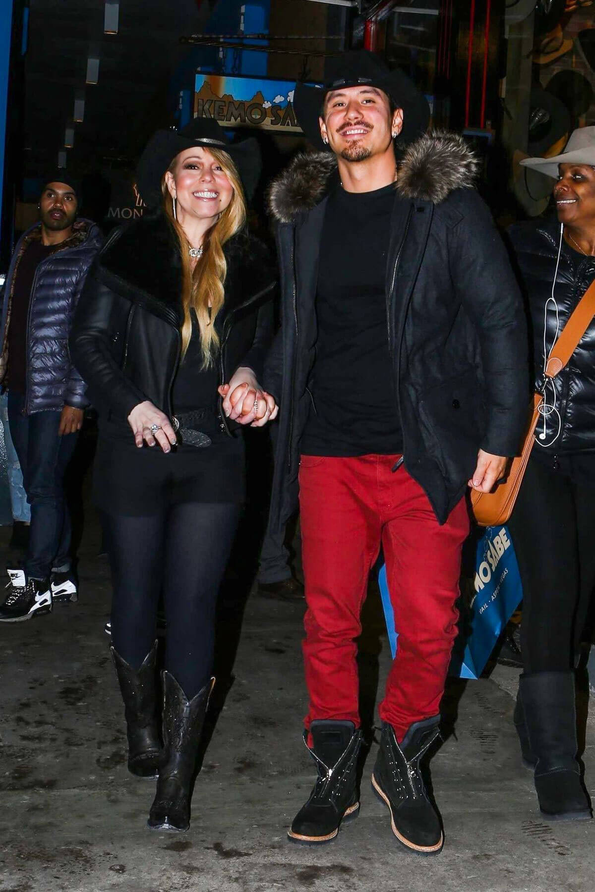 Mariah Carey and Brian Tanaka Stills Out in Aspen 2017/12/28