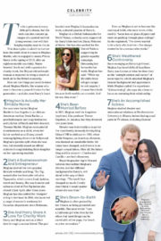 Meghan Markle Stills in Women's Weekly Magazine, Singapore January 2018 Issue