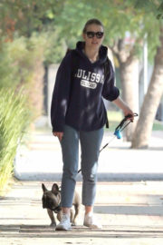 Mia Goth Stills Out with Her Dog in Los Angeles 2017/12/16