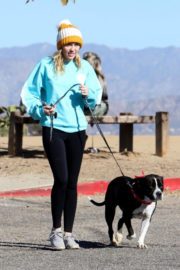 Miley Cyrus Stills Out with Her Dog in Los Angeles 2017/12/18