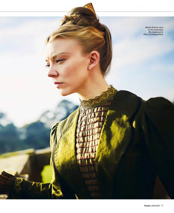 Natalie Dormer Stills in Foxtel Magazine, January 2018 Issue