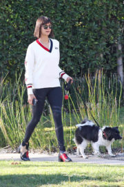Nina Dobrev Stills Out with Her Dog in Los Angeles 2017/10/15