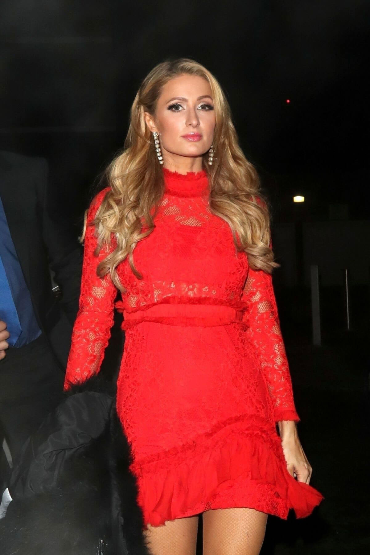 Paris Hilton and Chris Zylka Stills at a Party in West London 2017/12/14