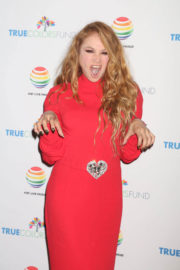 Paulina Rubio Stills at 7th Annual Cyndi Lauper and Friends Home in New York 2017/12/09