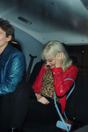 Pixie Lott and Oliver Cheshire Stills Night Out in London 2017/12/22