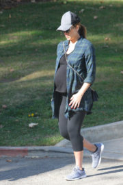 Pregnant Jessica Alba Stills Out and About in Los Angeles 2017/12/27