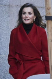 Queen Letizia of Spain Stills Out in Madrid 2017/12/21