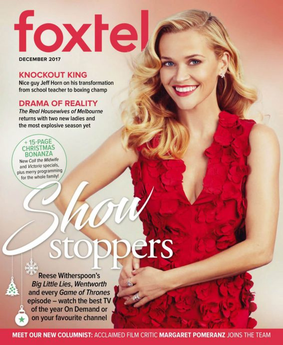 Reese Witherspoon Stills in Foxtel Magazine, December 2017