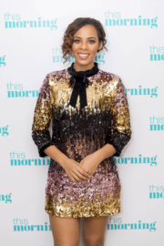 Rochelle Humes Stills at This Morning Show in London 2017/12/21