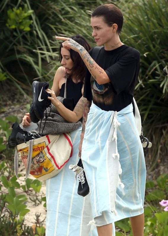 Ruby Rose and Jessica Origliasso Stills at a Beach in Byron Bay 2017/12/02