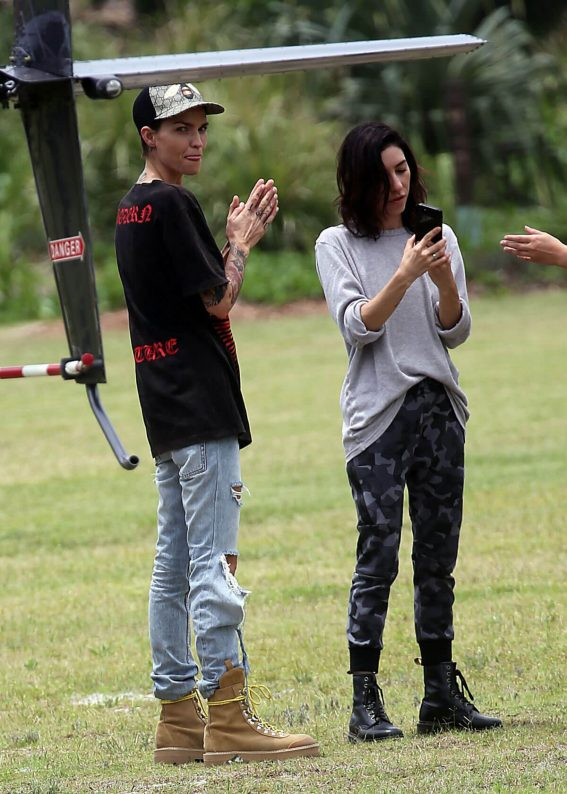 Ruby Rose and Jessica Origliasso Stills at Heli Tour in Byron Bay