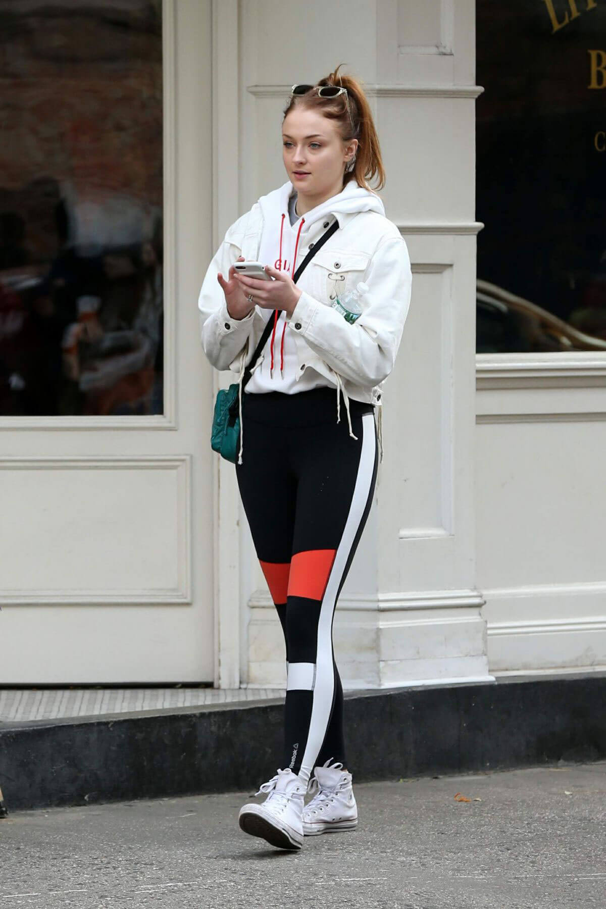 Sophie Turner in Tights Stills Out and About in New York