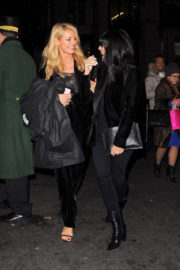 Tess Daly and Claudia Winkleman Stills Leaves Dorchester Hotel in London