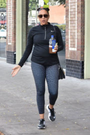 Tia Mowry in Tights Leaves a Gym in Studio City