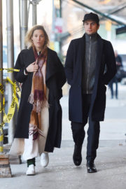 Vicky Krieps Stills Out and About in New York 2017/12/14