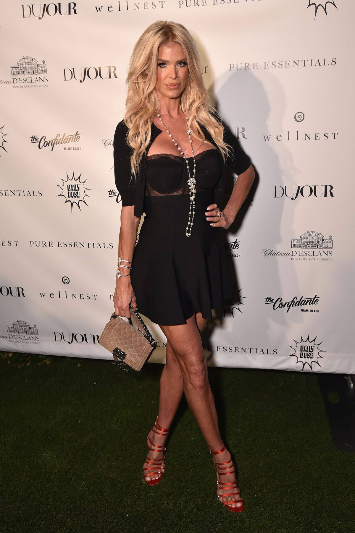 Victoria Silvstedt Stills at Daily Mail Holiday Party in New York 2017/12/06