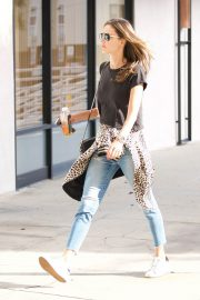 Alessandra Ambrosio Stills in Jeans Out in Brentwood 2018/01/29