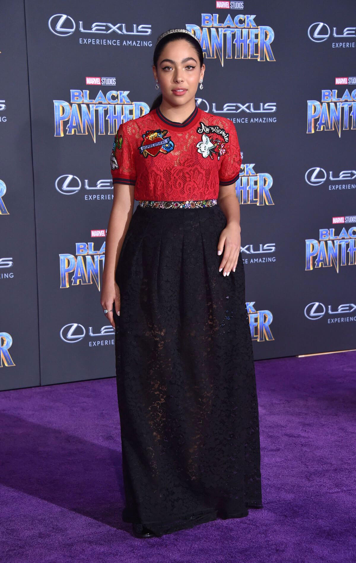 Allegra Acosta Stills at Black Panther Premiere in Hollywood 2018/01/29