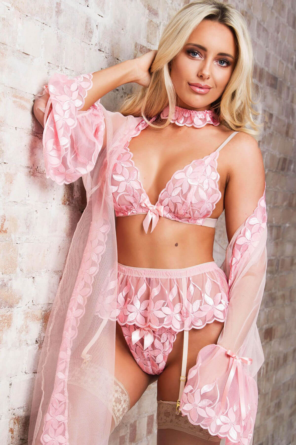 Amber Turner Poses for With Love Lily Lingerie, January 2018 Issue