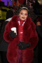 Andra Day Stills at 2018 New Year's Eve Celebration at Times Square in New York 2017/12/31