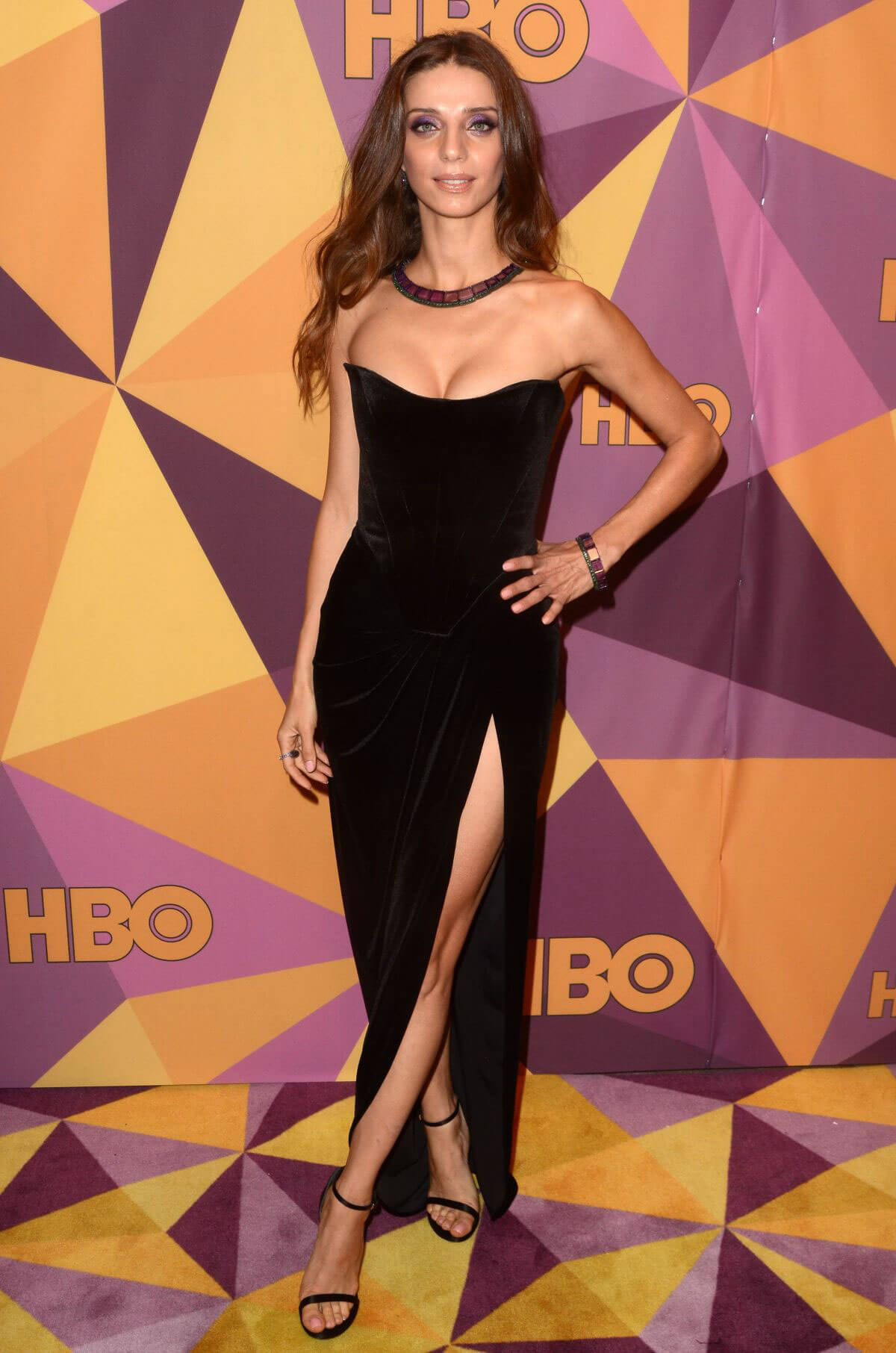 Angela Sarafyan Stills at HBO's Golden Globe Awards After-party in Los Angeles 2018/01/07