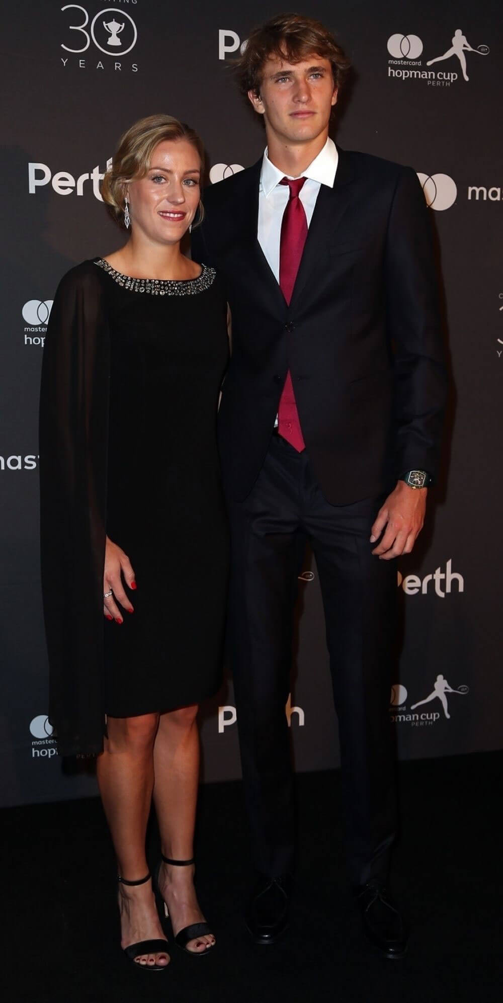 Angelique Kerber and Alexander Zverev Stills at Hopman Cup New Years Eve Players Ball in Perth 2017/12/31