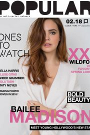 Bailee Madison Poses for Ones to Watch, January 2018 Issue