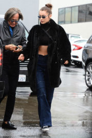 Bella Hadid Stills Out for Lunch at Il Pastaio in Beverly Hills 2018/01/09