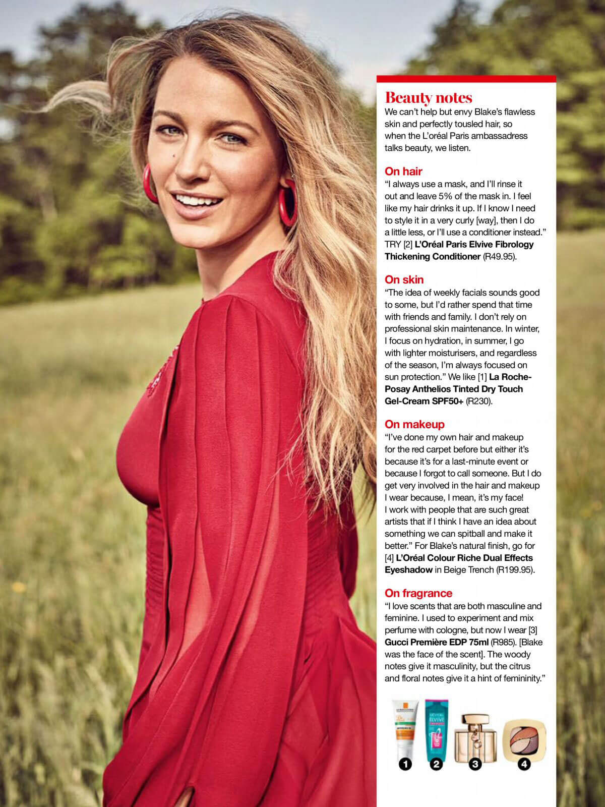 Blake Lively Stills in Glamour Magazine, South Africa January 2018 Issue