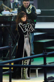 Camila Cabello Stills Rehearses for New Years Eve Performance at Times Square in New York 2017/12/31