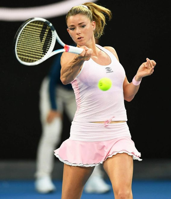 Camila Giorgi Stills at Australian Open Tennis Tournament in Melbourne 2018/01/19