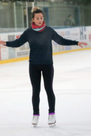 Candice Brown Stills on the ice for Dancing On Ice Rehearsals in Essex 2017/11/13