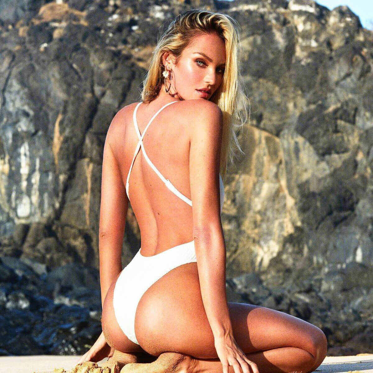 Candice Swanepoel Poses for TropicofC, Swimwear Collection