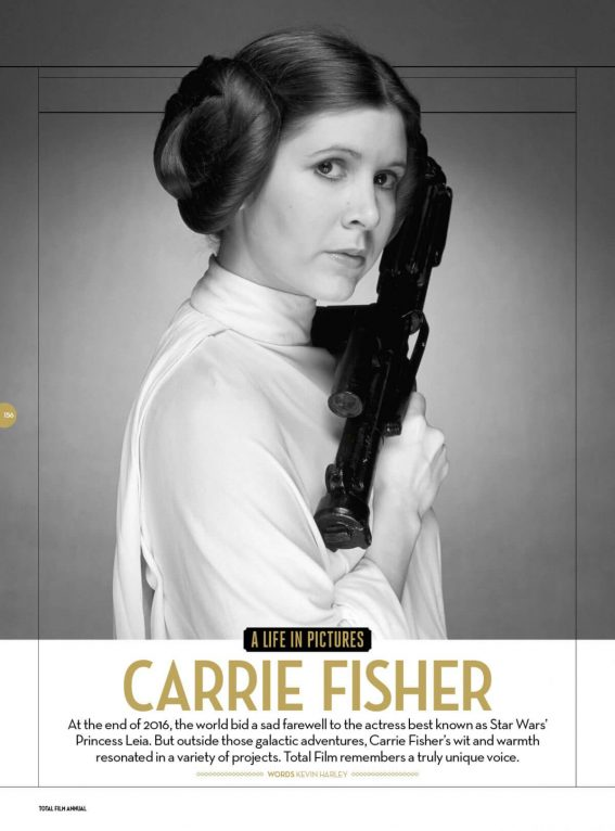 Carrie Fisher Stills in Total Film Magazine, Annual 2018 Photos
