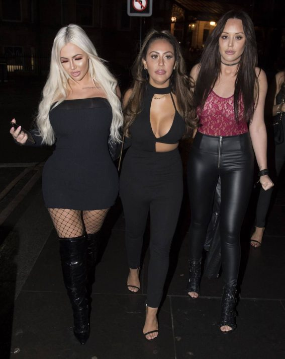 Charlotte Crosby, Sophie Kasaei and Holly Hagan Stills Night Out in Newcastle 2017/12/09