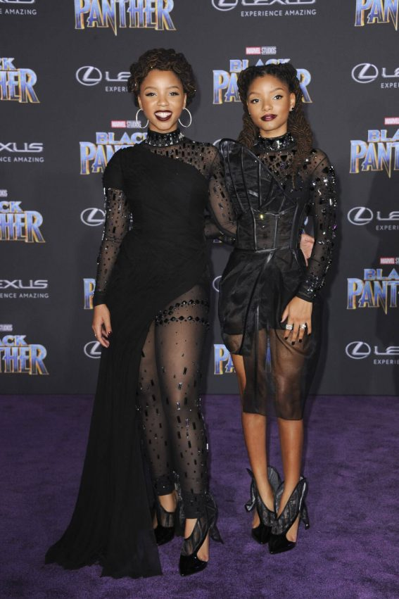 Chloe X Halle Stills at Black Panther Premiere in Hollywood 2018/01/29