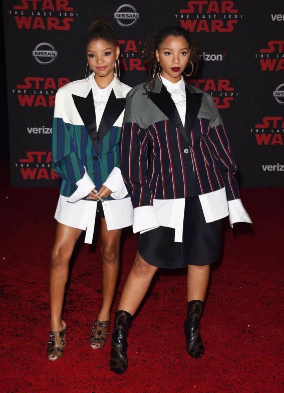Chloe X Halle Stills at Star Wars: The Last Jedi Premiere in Los Angeles 2017/12/09
