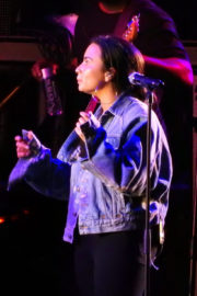 Demi Lovato Stills Rehearses for New Year's Eve Performance at Times Square in New York 2017/12/31