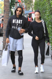Draya Michele and Orlando Scandrick Stills Out Shopping in Beverly Hills 2018/01/03