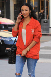 Draya Michele Stills Out Shopping on Rodeo Drive in Beverly Hills 2018/01/05