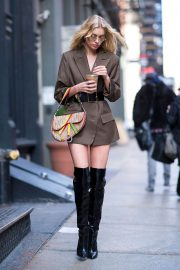 Elsa Hosk Stills Out and About in New York 2018/01/27