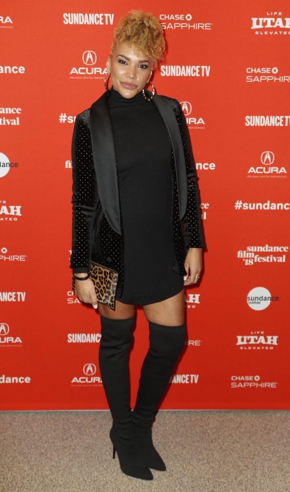 Emmy Raver-Lampman Stills at Blindspotting Premiere at 2018 Sundance Film Festival in Park City 2018/01/18