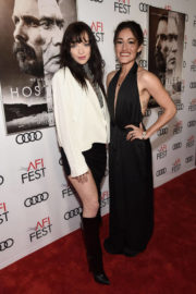 Francesca Eastwood and Q'orianka Kilcher Stills at Hostiles Premiere Centerpiece Gala at AFI Fest 2017 in Los Angeles 2017/11/14