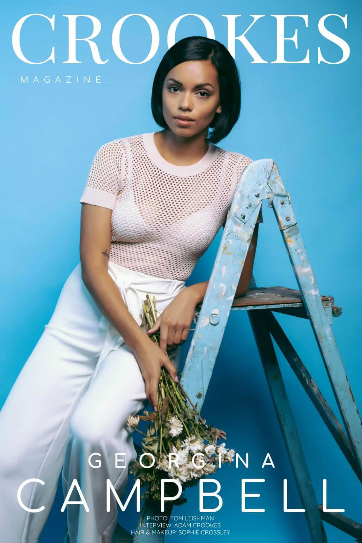 Georgina Campbell Poses for Crookes Magazine, December 2017