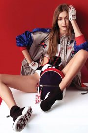 Gigi Hadid Poses for Tommy X Gigi Spring Summer 2018 Collection Photos
