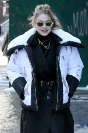 Gigi Hadid Stills Out for Lunch New York 2018/01/05