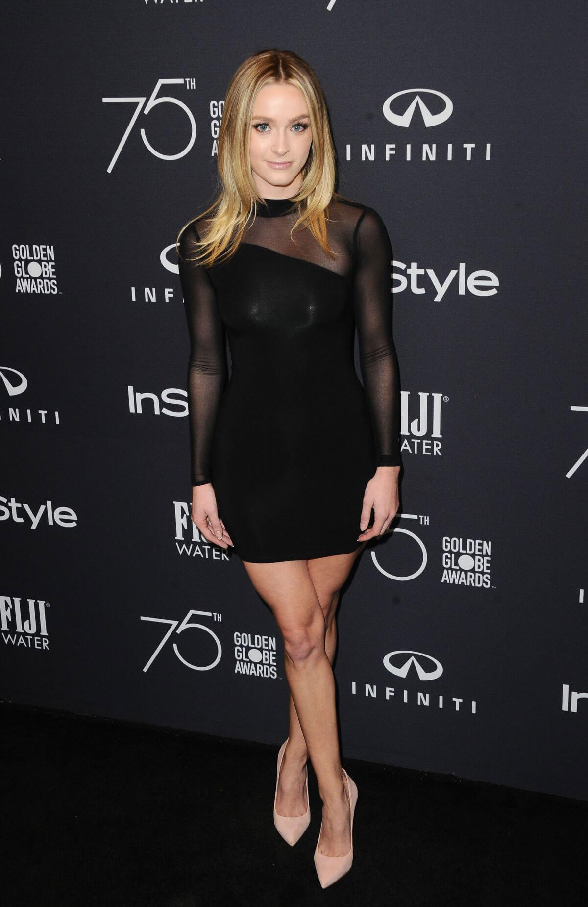 Greer Grammer Stills at HFPA & Instyle Celebrate 75th Anniversary of the Golden Globes in Los Angeles 2017/11/15