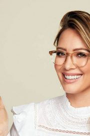 Hilary Duff Poses for Hilary Duff Collection with #glassesusa 2018