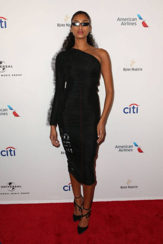 Imaan Hammam Stills at Universal Music Group's Grammy After-party in New York 2018/01/28